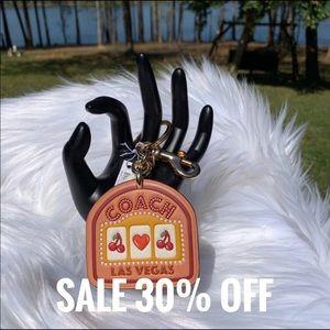 Coach Las Vegas Leather Bag Charm & Key Ring